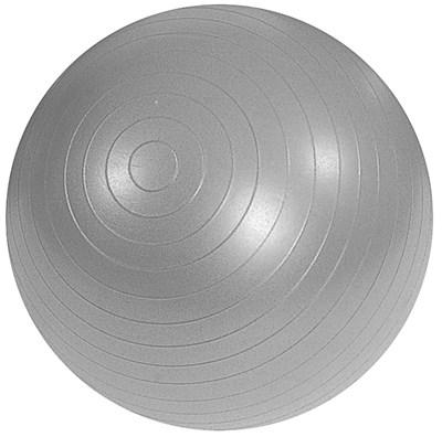 Cvičební gymnastický míč MAMBO, 95 cm, stříbrný s pumpičkou