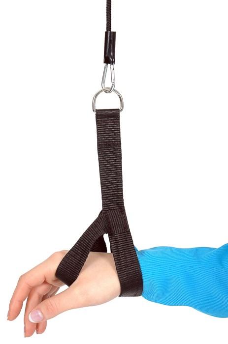 Cvičební nepružné lano s podporou paží