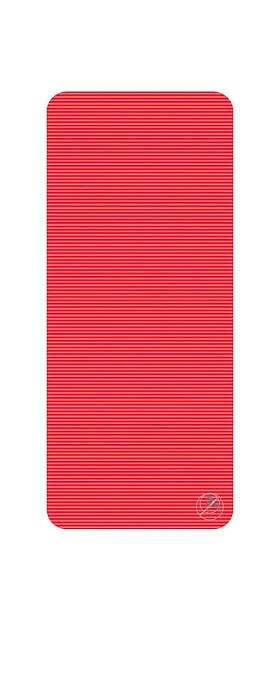 Podložka na cvičení, 140 x 60 x 2 cm, červená