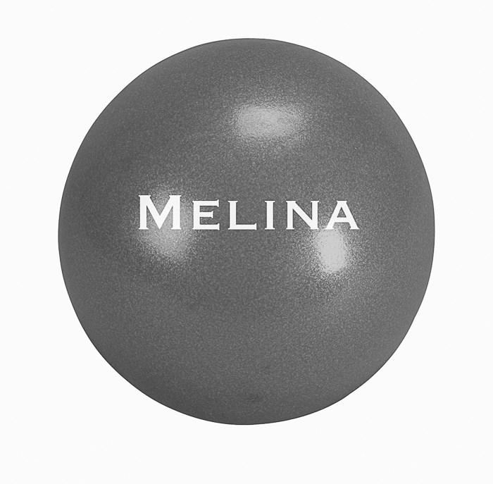 Gymnastický míč Pilates Melina, 19 cm, antracit