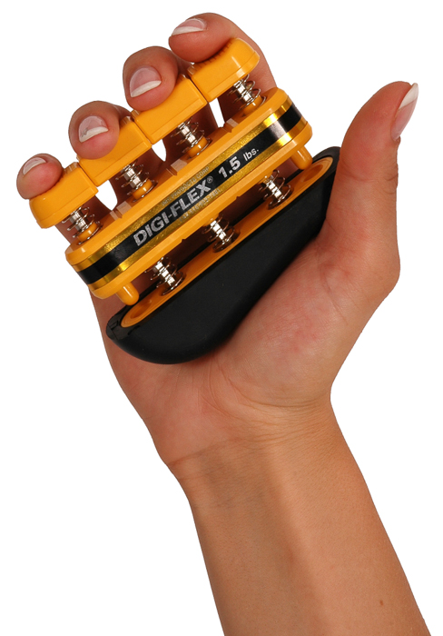 Posilovač prstů DIGI-FLEX, 0,7-2,3 kg, žlutý