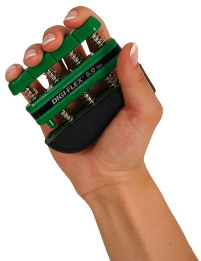 Posilovač prstů DIGI-FLEX, 2,3-7,3 kg, zelený