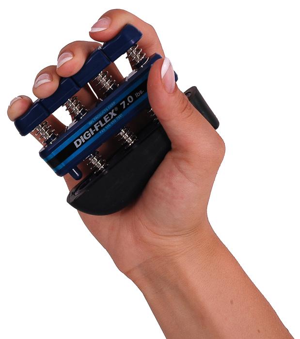 Posilovač prstů DIGI-FLEX, 3,2-10,4 kg, modrý