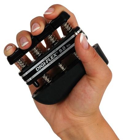 Posilovač prstů DIGI-FLEX, 4,1-14,1 kg, černý