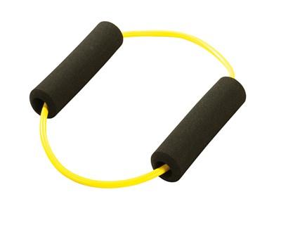 Posilovací kruh s madly, žlutý