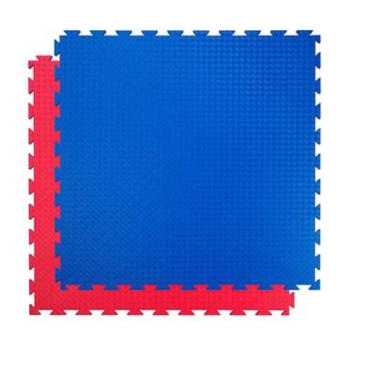 Tatami 20 mm COMPETITION standart, 100 x 100 x 2 cm, červená/modrá