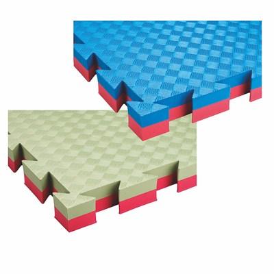 Tatami 40 mm COMPETITION, 100 x 100 x 4 cm, zelená/červená