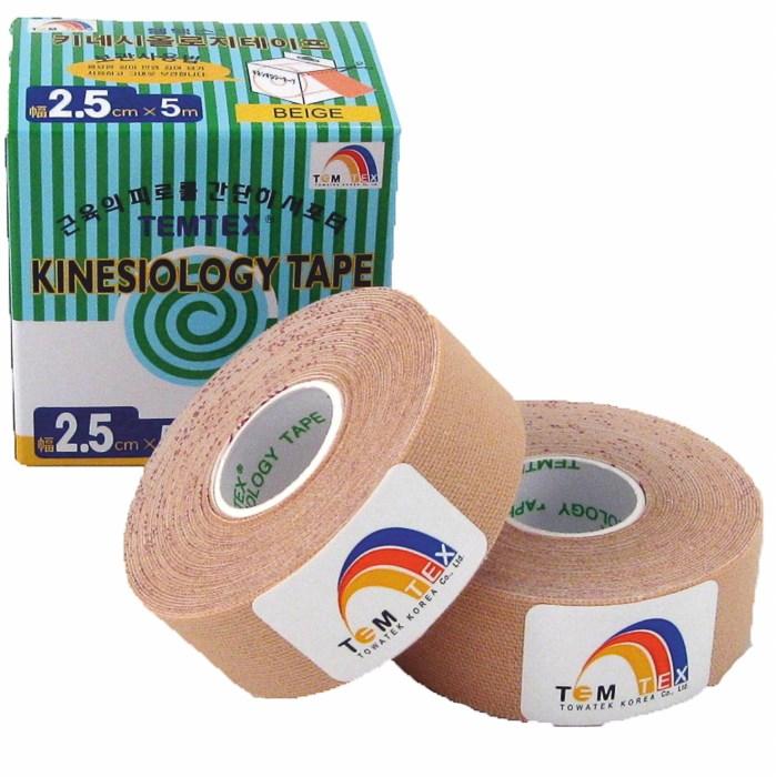 Temtex Tape Classic, 2,5 cm x 5 m, béžový, 2 ks