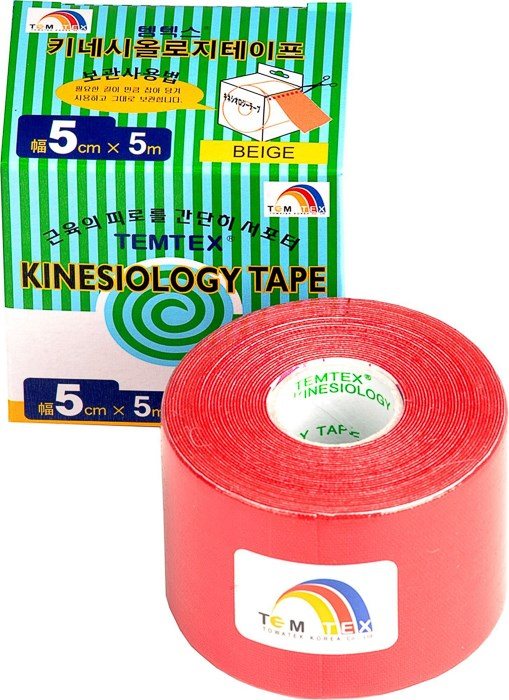 Temtex Tape Classic, 5 cm x 5 m, červený