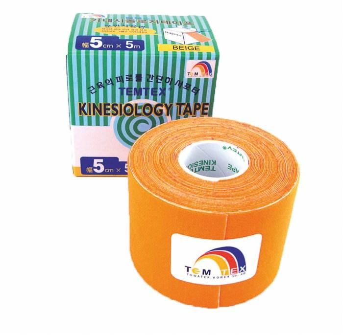 Temtex Tape Classic, 5 cm x 5 m, oranžový