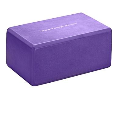 YOGA blok, 23 x 15 x 10 cm, fialový