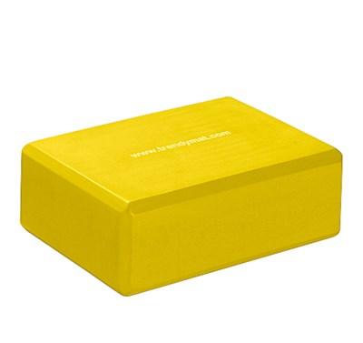 YOGA blok, 23 x 15 x 7,5 cm, žlutý