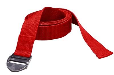 YOGA pásek, 190 x 4 x 0,2 cm, červený