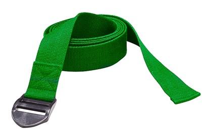 YOGA pásek, 190 x 4 x 0,2 cm, zelený