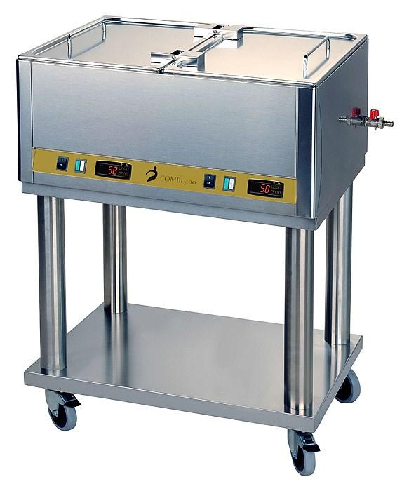 COMBI 400, dvoukomorový ohřívač nosičů tepla/parafínu, 2 x 24 l