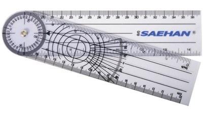 Goniometr plastový 20 cm/360° pravítkový