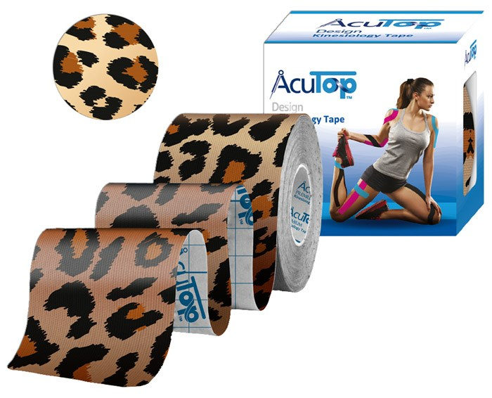 AcuTop Kinesiology Tape, 5 cm x 5 m, leopard