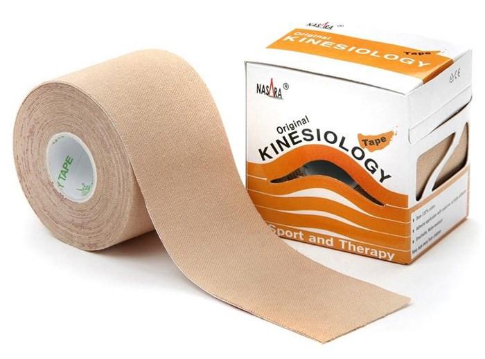 Nasara Kinesiology Tape, 5 cm x 5 m, béžový