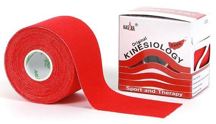 Nasara Kinesiology Tape, 5 cm x 5 m, červený