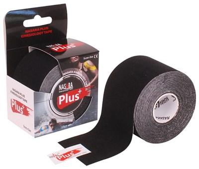 Nasara Plus Kinesiology Tape, 5 cm x 5 m, černý