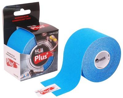 Nasara Plus Kinesiology Tape, 5 cm x 5 m, modrý