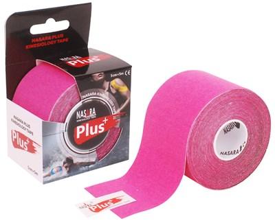Nasara Plus Kinesiology Tape, 5 cm x 5 m, růžový