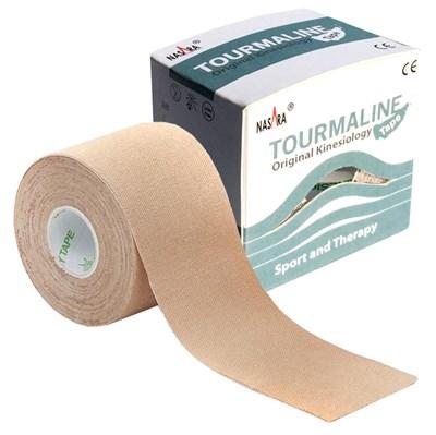 Nasara Tourmaline Kinesiology Tape, 5 cm x 5 m, béžový