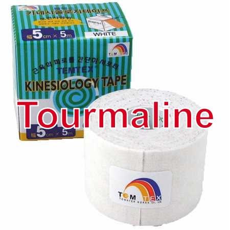 Temtex Tape Tourmaline, 5 cm x 5 m, bílý