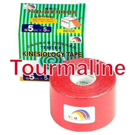 Temtex Tape Tourmaline, 5 cm x 5 m, červený