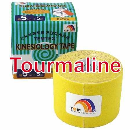 Temtex Tape Tourmaline, 5 cm x 5 m, žlutý