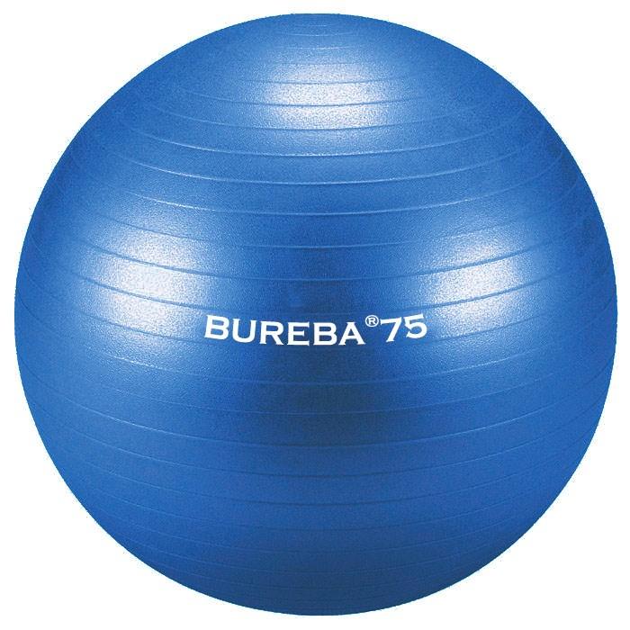 Cvičební gymnastický míč MEDI BuReBa, 75 cm, modrý