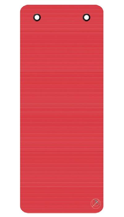 Podložka na cvičení Profi, 190 x 80 x 1,5 cm, s kroužky červená