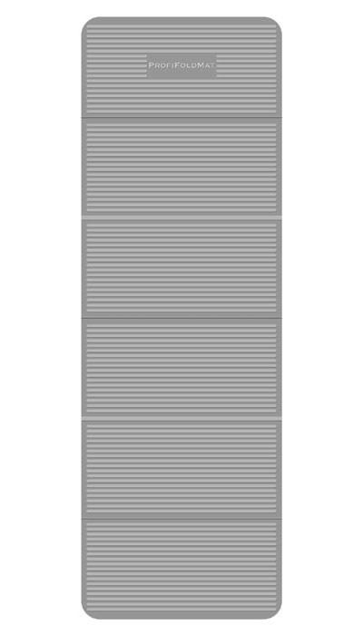 Podložka na cvičení Profi skládací, 180 x 60 x 0,6 cm / 30 x 60 x 4 cm, šedá