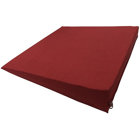 Sedací klín s potahem, 37 x 37 x 7/2 cm, červená