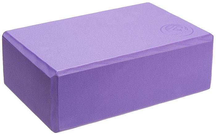 YOGA blok, 23 x 15 x 7,5 cm, fialový