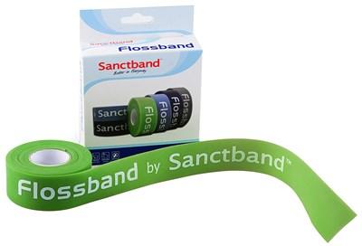 Kompresní guma Flossband by Sanctband, 2,5 cm x 2 m, limetka, slabá