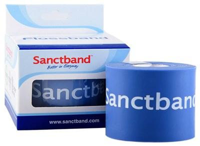 Kompresní guma Flossband by Sanctband, 5 cm x 2 m, borůvka, střední
