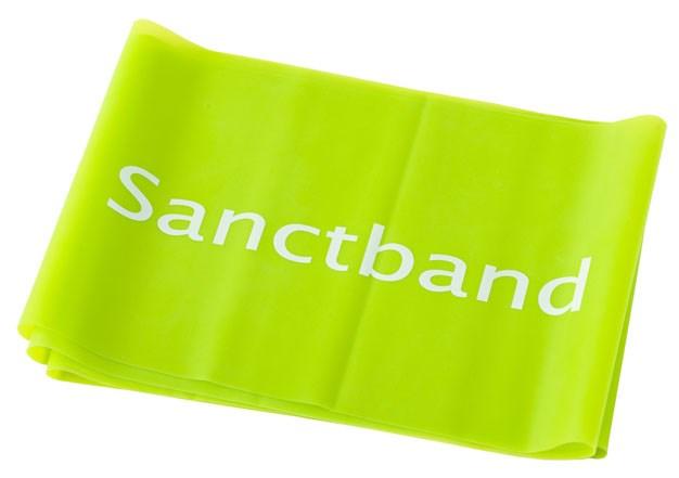 Cvičební guma Sanctband, 1,5 m, limetka, silná