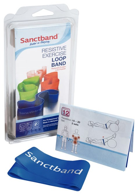 Cvičební guma Sanctband Loop (smyčka), borůvka, velmi silná