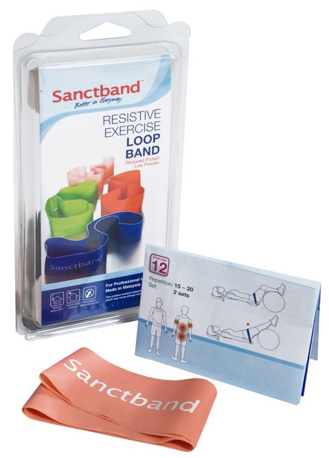 Cvičební guma Sanctband Loop (smyčka), broskev, slabá
