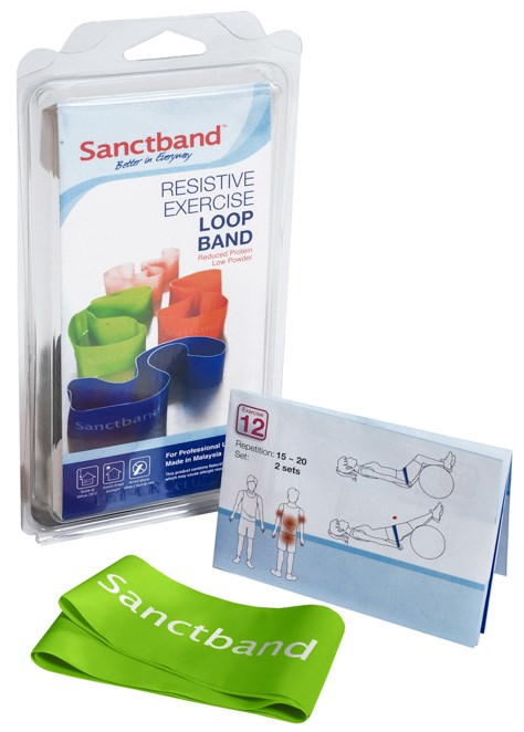 Cvičební guma Sanctband Loop (smyčka), limetka, silná