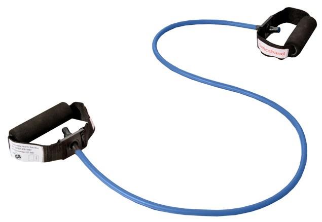 Cvičební guma Sanctband Tubing s madly, borůvka, velmi silná