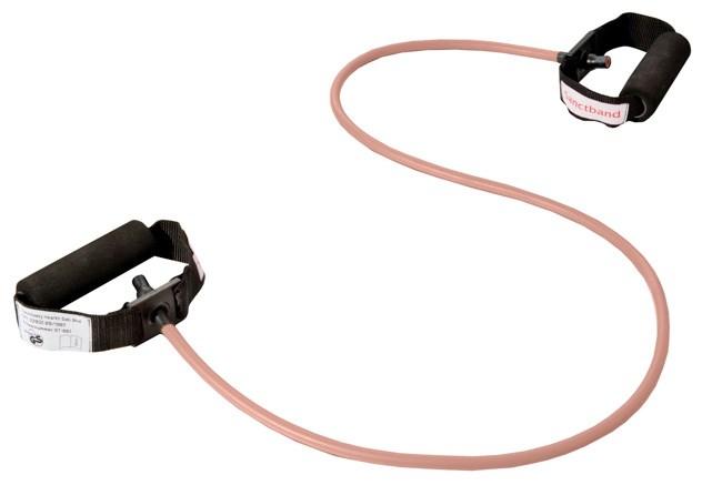 Cvičební guma Sanctband Tubing s madly, broskev, slabá