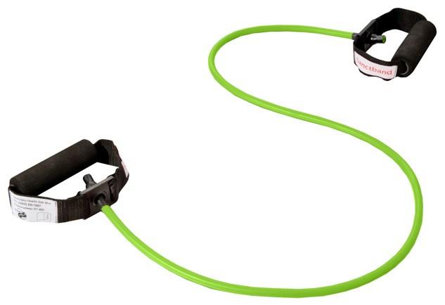 Cvičební guma Sanctband Tubing s madly, limetka, silná