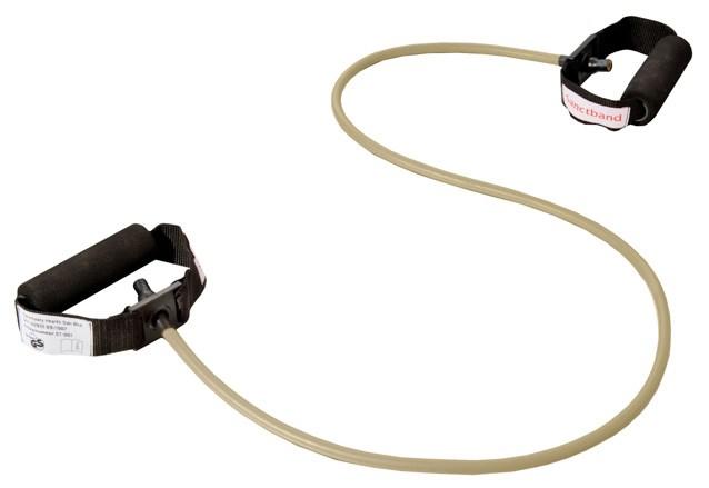 Cvičební guma Sanctband Tubing s madly, mocca, super silná
