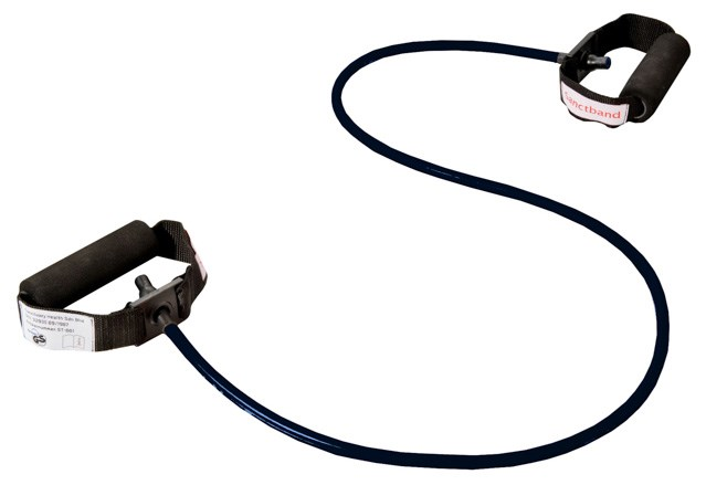Cvičební guma Sanctband Tubing s madly, švestka, extra silná
