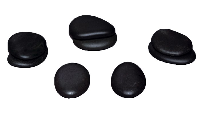 Lávové kameny Hot Stone Premium, meziprstové, 2 cm, 8 ks