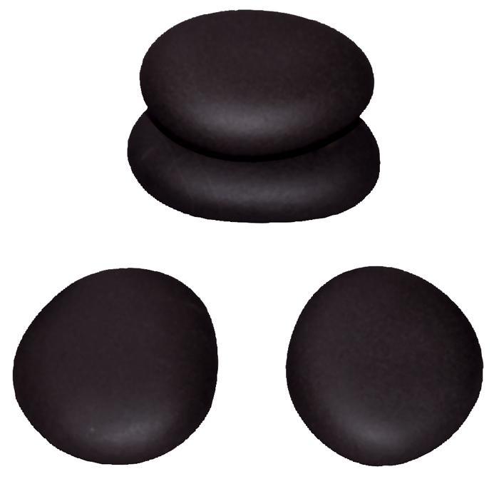 Hot Stone Premium lávové masážní kameny střední 6,2-7,5 cm, 4 ks