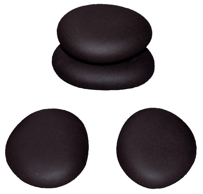 Lávové kameny Hot Stone Premium, střední, 6,2-7,5 cm, 4 ks