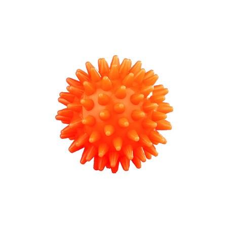 Masážní míček, ježek, tvrdý, 55 mm, oranžový
